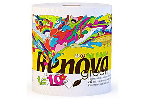 Renova Green 100% Recyclingpapier Gigarolle mit 240 Tüchern