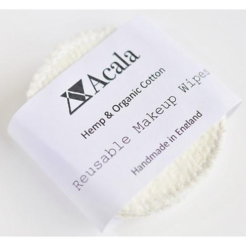 Acala waschbare Make-up Entfernungstücher aus Hanf und Baumwolle