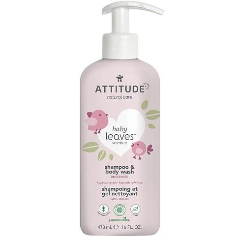Attitude Baby Leaves 2 in 1 Shampoo & Duschgel - Ohne Duftstoffe