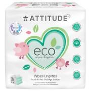Attitude 100 % biologisch abbaubare Feuchttücher 3-er Pack (3 x 72)