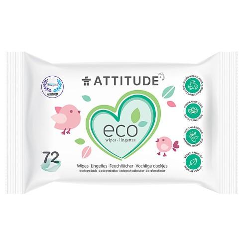 Attitude 100 % biologisch abbaubare Feuchttücher