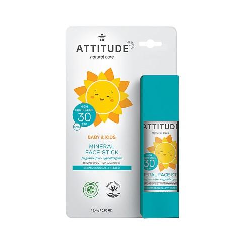 Attitude Baby & Kids Mineral Face Stick LSF 30 - Sonnenschutzstick