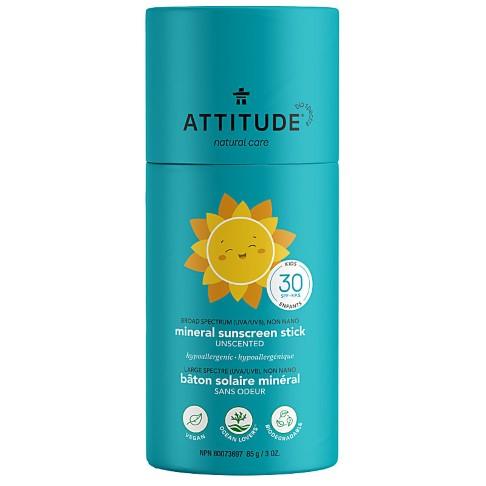 Attitude Baby & Kids Sunscreen Stick SPF 30 fragrance free - Sonnenschutz Stick