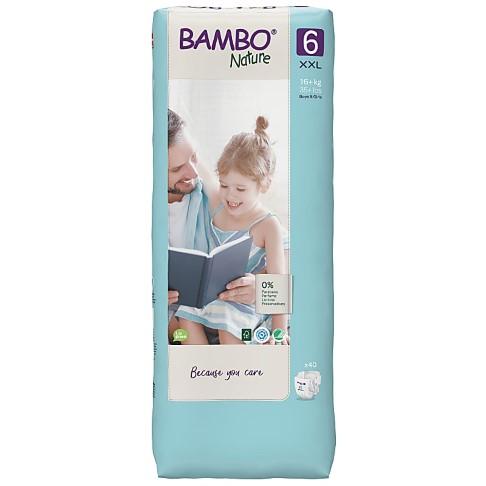 Bambo Nature Windeln - XL Plus - Größe 6 - Jumbo Packung mit 44 Windeln