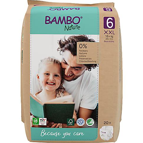 Bambo Nature Windeln - XL Plus - Größe 6 - Packung mit 20 Windeln