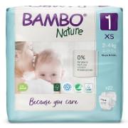 Bambo Nature Windeln - New Born - Größe 1 - Packung mit 28 Windeln