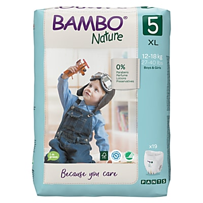 Bambo Nature Training Pants - Junior - Größe 5 - Packung mit 19 Windeln