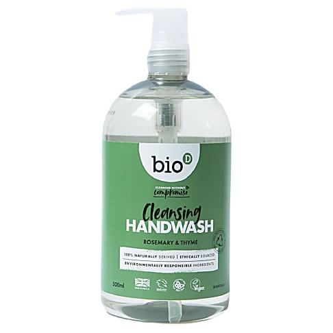 Bio-D Sanitising Hand Wash Rosemary & Thyme - antibakterielle Handseife 500 ml