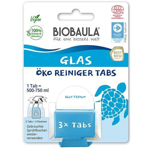 Biobaula Glas Reiniger Tabs für bis zu 3 L