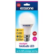 Ecozone Biobulb LED B22 Bayonett Tageslicht Birne 14 Watt