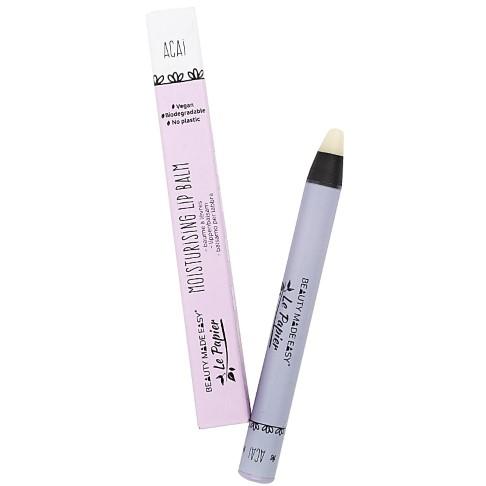 Beauty Made Easy Le Papier Moisturizing Lip Balm ACAI - Lippenbalsam Plastikfrei