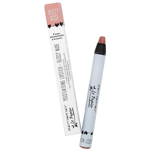 Beauty Made Easy Le Papier Moisturizing Glossy Lipstick DUSTY ROSE - Lippenstift