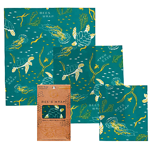 Bee's Wrap 3er-Pack Ocean small/medium/large