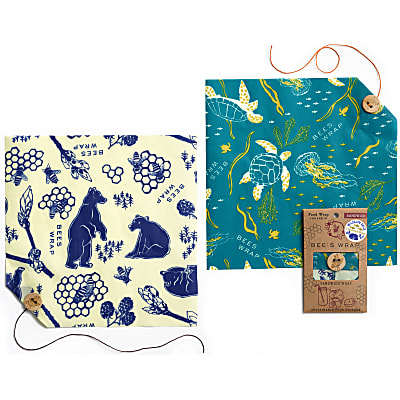 Bee's Wrap Doppel-Pack Sandwich Wildlife Limited Edition