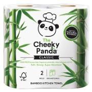 The Cheeky Panda Bamboo Kitchen Towel 2 rolls - Küchenrolle aus Bambusfaser