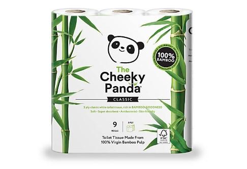 The Cheeky Panda FSC zertifiziertes Toilettenpapier aus Bambus - 9 Rollen