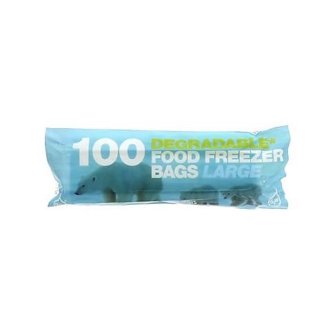 D2W Abbaubare Beutel für Lebensmittel / Gefrierbeutel - 100 Large