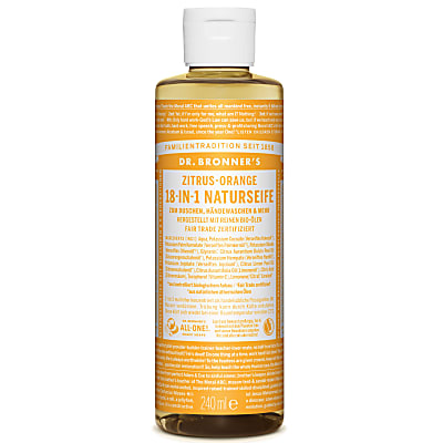 Dr. Bronner's Zitrus-Orange 18-in-1 Naturseife 240 ml