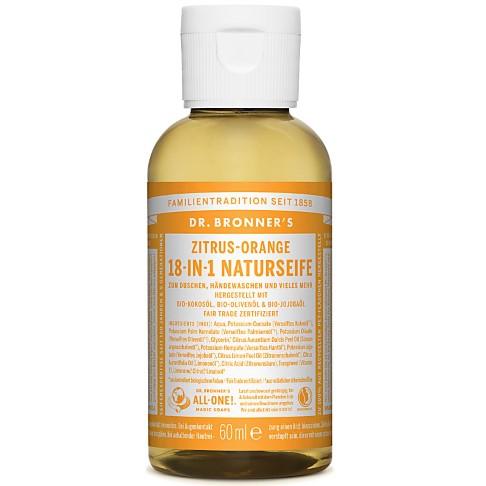 Dr. Bronner's Zitrus-Orange 18-in-1 Naturseife 60 ml