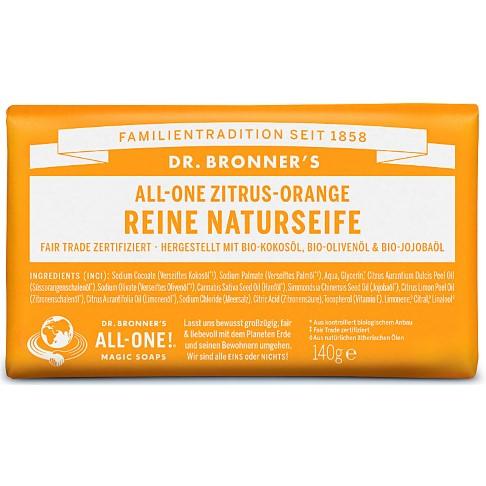 Dr. Bronner's All-One Zitrus Orange Reine Naturseife