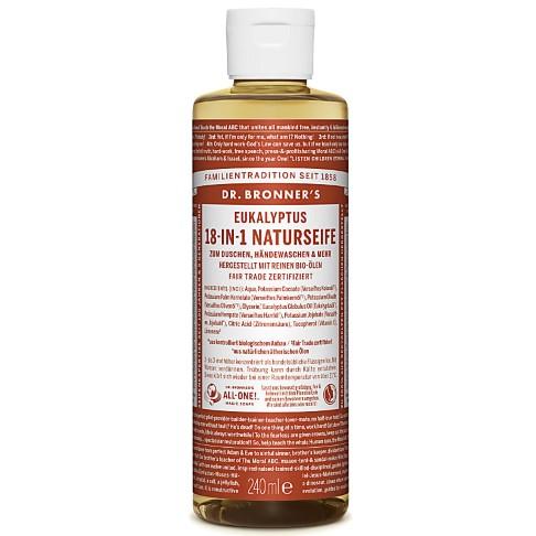 Dr. Bronner's Eucalyptus 18-in-1 Naturseife - 240 ml
