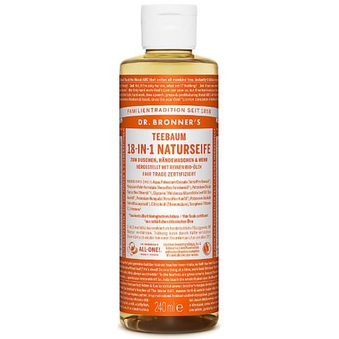 Dr. Bronner's Teebaum 18-in-1 Naturseife 240 ml