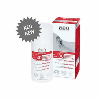 "eco cosmetics Sonnenlotion ""No Biocide"" LSF30 Mückenschreck"