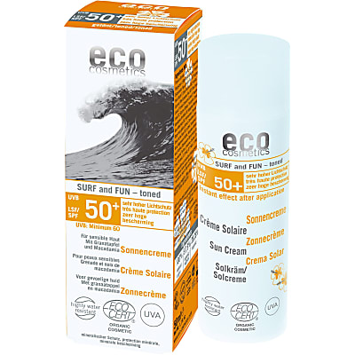 eco cosmetics SURF and FUN Sonnencreme LSF 50+