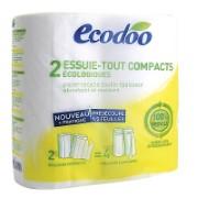 Ecodoo Küchenrolle Compact (2 Rollen - entsprechen 4 normalen Rollen)
