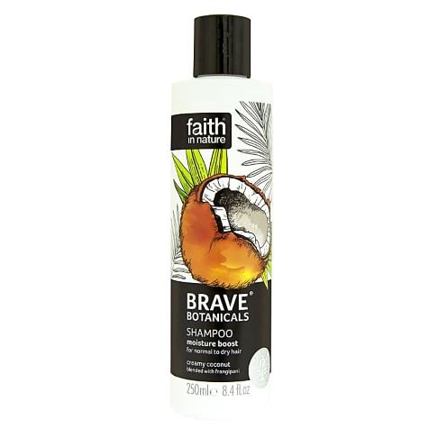 Faith in Nature Brave Botanicals Coconut & Frangipani Feuchigkeitsspendendes Shampoo
