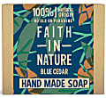 Faith in Nature for Men Blue Cedar Soap Bar - Seifenstück