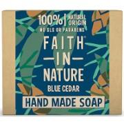 Faith in Nature for Men Blue Cedar Soap Bar - Seifenstück