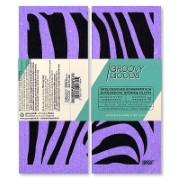 Groovy Goods Ökoligisches Schwammtuch Zebra Purple 17 x 20 cm