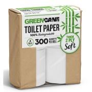 Greencane - Toilettenpapier (4 Rollen á 300 Blätter)