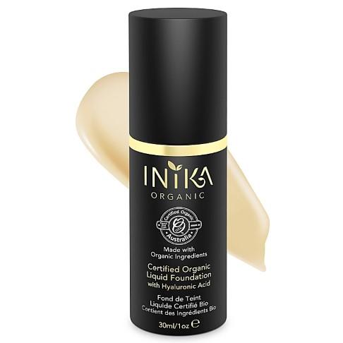 INIKA Certified Organic Liquid Foundation Cream - Foundation mit Hyaluronsäure