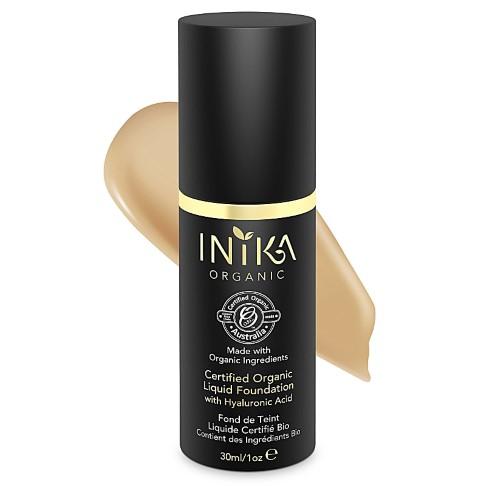 INIKA Certified Organic Liquid Foundation Tan - Foundation mit Hyaluronsäure