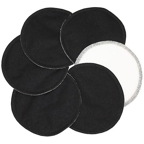 ImseVimse waschbare Stilleinlagen aus Baumwolle - Schwarz 3 Paar
