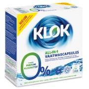 Klok All in 1 Geschirrspülmittel Tabletten (26 Stück) - Spülmaschinentabs