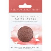 Konjac Facial Puff Sponge mit französischem rotem Ton - für trockene & reife Haut