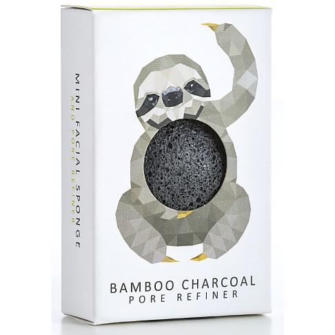Konjac Mini Bamboo Charcoal Faultier - für feine Poren