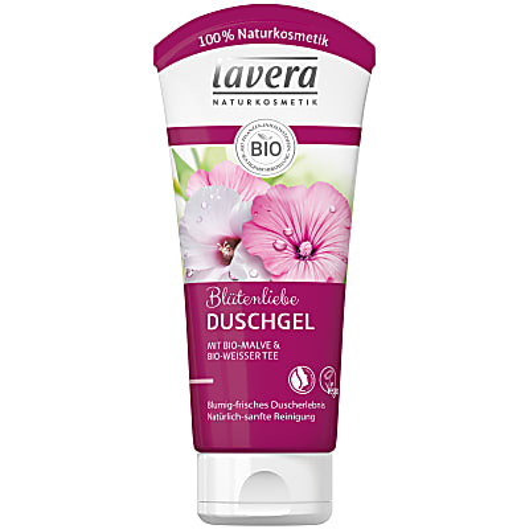 Lavera Duschgel Blütenliebe mit Bio-Malve & Bio-Weißer Tee