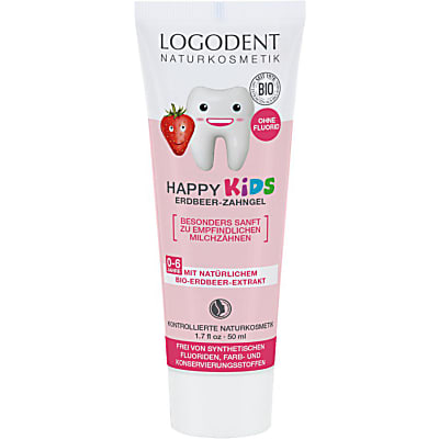 Logona Happy Kids Erdbeer-Zahngel
