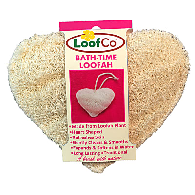 LoofCo Bath-Time Loofah - Luffa in Herzform
