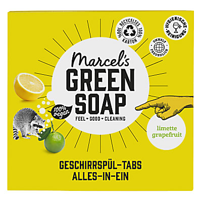 Marcel's Green Soap Spülmaschinentabs Grapefruit & Lime 24 Tabs