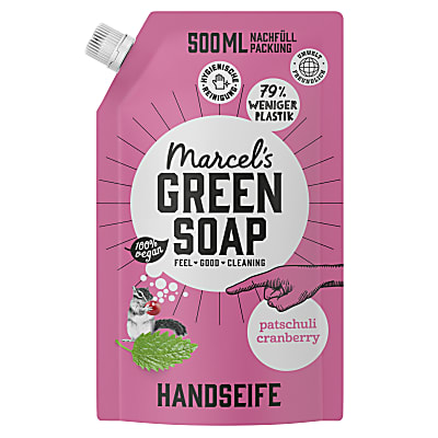Marcel's Green Soap Handseife Patchouli & Cranberry - Patschuli & Preiselbeere 1L