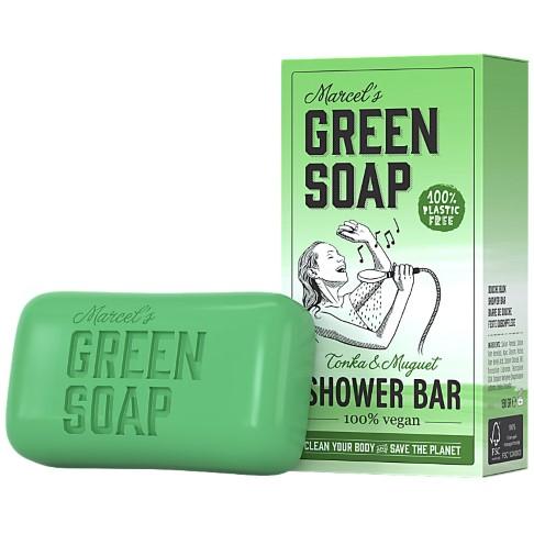 Marcel's Green Soap Shower Bar Tonka & Muguet