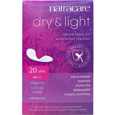 Natracare Dry & Light Slipeinlagen für Blasenschwäche