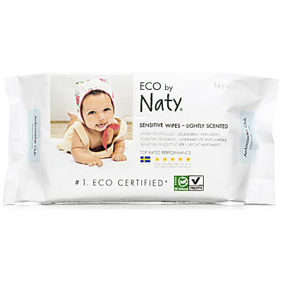 Eco by Naty Babycare ECO Sensitive Baby Pflegetücher - Leicht beduftet