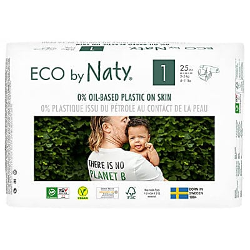 Eco by Naty Babypflege Windeln: Größe 1 Neugeborene