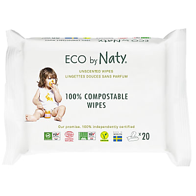 Eco by Naty Sensitive Baby-Pflegetücher - ohne Duftstoffe / Reisepackung